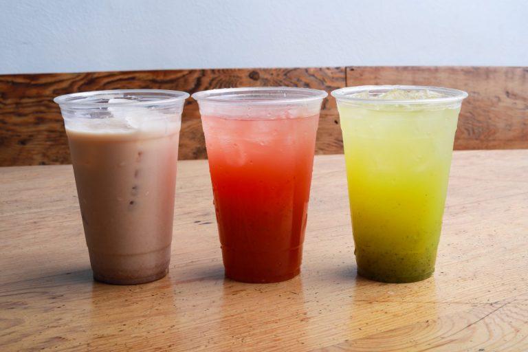 three juice cups